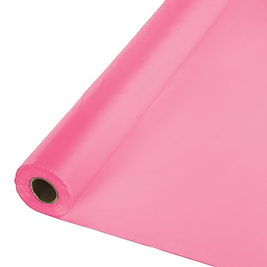 Touch of Color Candy Pink Plastic Banquet Roll (011346)