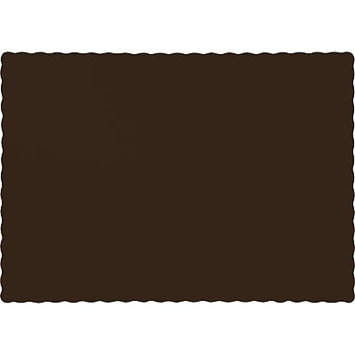 Touch of Color Chocolate Brown Placemats, 50 pk (863038B)