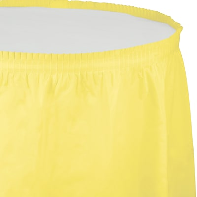 Touch of Color Mimosa Yellow Plastic Tableskirt (010035)