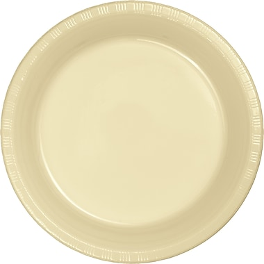 Touch of Color Ivory Plastic Plates, 20 pk (28161021)