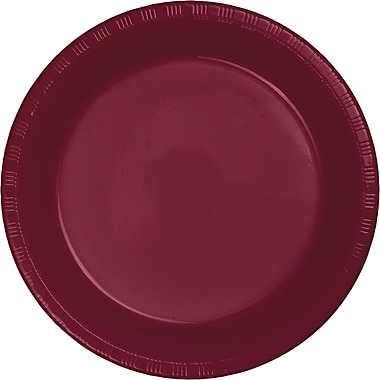 Touch of Color Burgundy Red Plastic Plates, 20 pk (28312221)