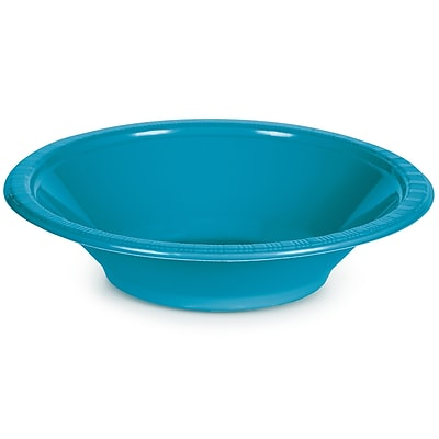 Touch of Color Turquoise Blue 12 oz Plastic Bowls, 20 pk (28313151)