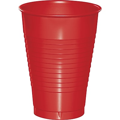 Touch of Color Classic Red 12 oz Plastic Cups, 20 pk (28103171)