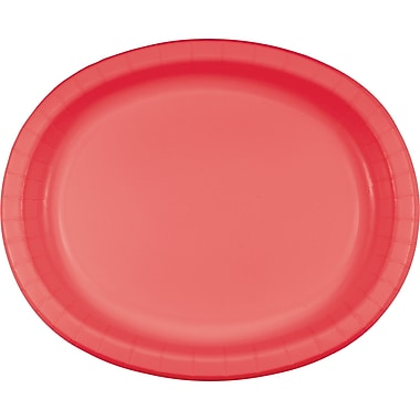 Touch of Color Coral Oval Plates, 8 pk (433146)