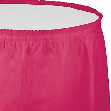 Touch of Color Hot Magenta Pink Plastic Tableskirt (010030)
