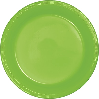 Touch of Color Fresh Lime Green Plastic Plates, 20 pk (28312321)