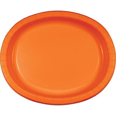 Touch of Color Sunkissed Orange Oval Plates, 8 pk (433282)