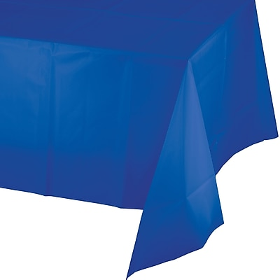 Touch of Color Cobalt Blue Plastic Tablecloth (723147)