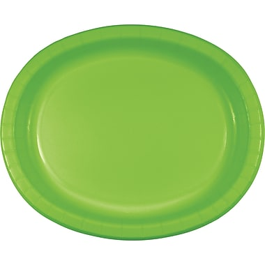 Touch of Color Fresh Lime Green Oval Plates, 8 pk (433123)
