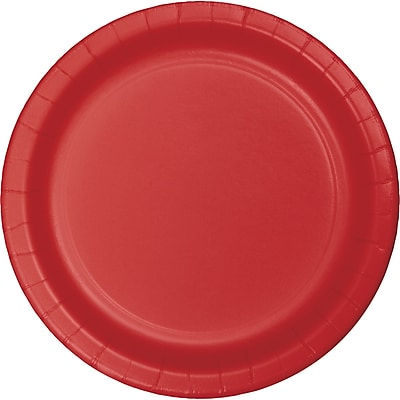 Touch of Color Classic Red Dessert Plates,