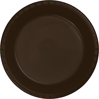 Touch of Color Chocolate Brown Plastic Dessert Plates, 20 pk (28303811)