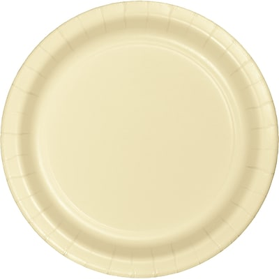 Touch of Color Ivory Dessert Plates, 24