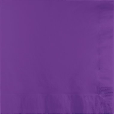 Touch of Color Amethyst Purple Napkins, 6.5 x 6.5, 50 pk
