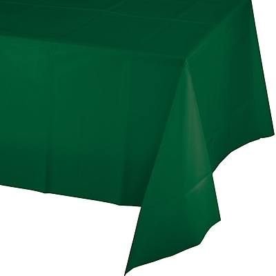 Touch of Color Hunter Green Plastic Tablecloth (723124)
