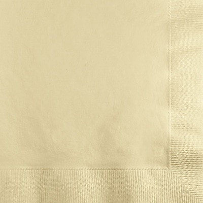 Touch of Color Ivory Beverage Napkins, 50 pk