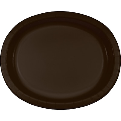 Touch of Color Chocolate Brown Oval Plates,