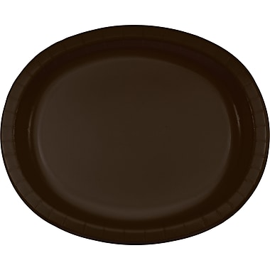 Touch of Color Chocolate Brown Oval Plates, 8 pk (433038)