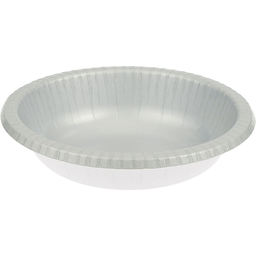 Touch of Color Shimmering Silver Paper Bowls, 20 pk (173281)