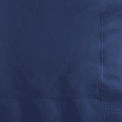 Touch of Color Navy Blue Beverage Napkins, 200 pk