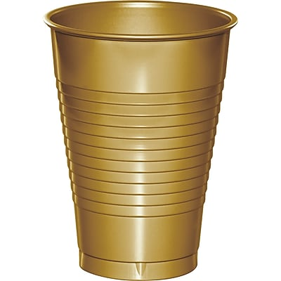 Touch of Color Glittering Gold 12 oz Plastic Cups, 20 pk (28103071)