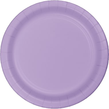 Touch of Color Luscious Lavender Purple Paper Plates, 24 pk (47193B)
