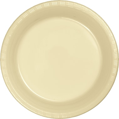 Touch of Color Ivory Plastic Dessert Plates, 20 pk (28161011)