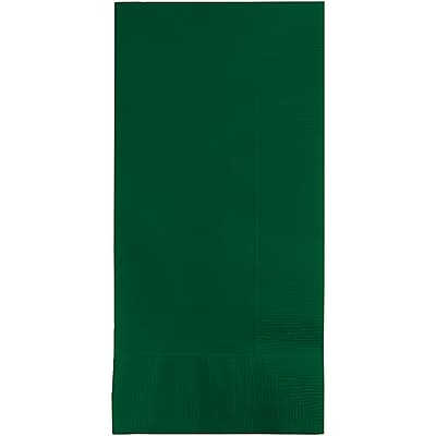 Touch of Color Hunter Green Napkins, 8.5 x 4, 50 pk