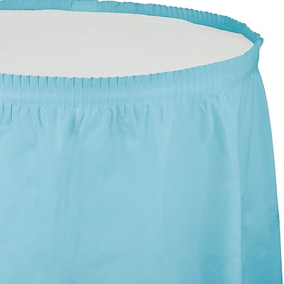 Touch of Color Pastel Blue Plastic Tableskirt (010037)