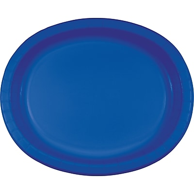 Touch of Color Cobalt Blue Oval Plates,
