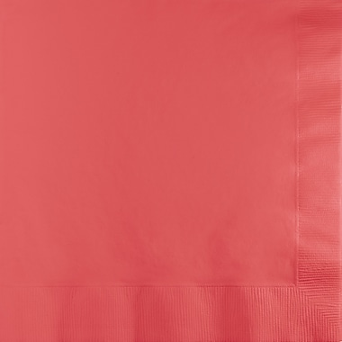 Touch of Color Coral Napkins, 6.5 x 6.5, 50 pk