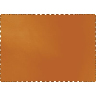 Touch of Color Pumpkin Spice Orange Placemats, 50 pk (323376)