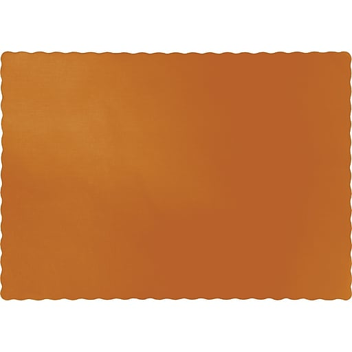 Touch of Color Pumpkin Spice Orange Placemats, 50/Pack (323376)