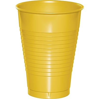 Touch of Color School Bus Yellow 12 oz Plastic Cups, 20 pk (28102171) 2634461