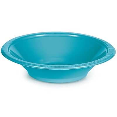 Touch of Color Bermuda Blue 12 oz Plastic Bowls, 20 pk (28103951)