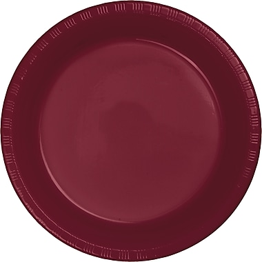 Touch of Color Burgundy Red Plastic Dessert Plates, 20 pk (28312211)