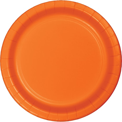 Touch of Color Sunkissed Orange Paper Plates, 24/Pack (47191B)