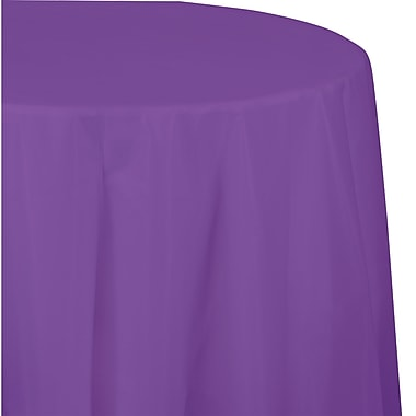 Touch of Color Amethyst Purple Round Plastic Tablecloth (318932)