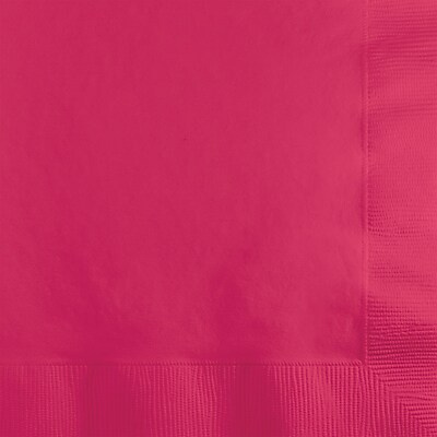 Touch of Color Hot Magenta Pink Beverage Napkins, 200 pk