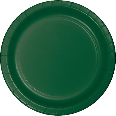 Touch of Color Hunter Green Paper Plates, 24 pk (473124B)