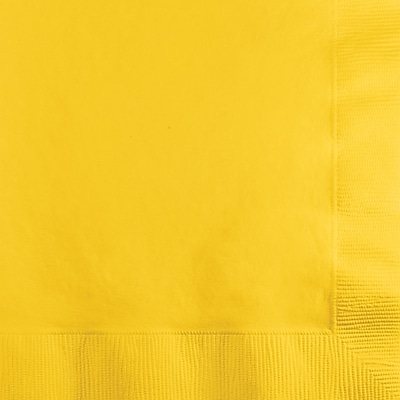 Touch of Color School Bus Yellow Napkins, 150 pk