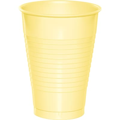 Touch of Color Mimosa Yellow 12 oz Plastic Cups, 20 pk (28102071)