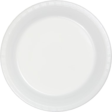 Touch of Color White Plastic Plates, 20 pk (28000021)