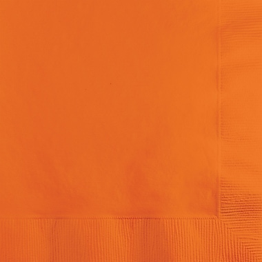 Touch of Color Sunkissed Orange Beverage Napkins, 50 pk