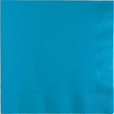 Touch of Color Turquoise Blue Napkins, 6.5 x 6.5, 50 pk