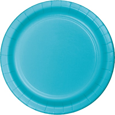 Touch of Color Bermuda Blue Paper Plates, 24 pk (471039B)