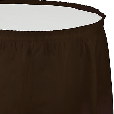 Touch of Color Chocolate Brown Plastic Tableskirt (010383) 2634589