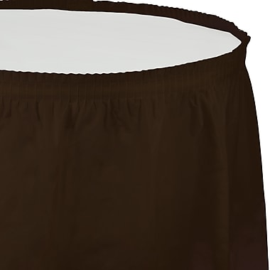 Touch of Color Chocolate Brown Plastic Tableskirt (010383)