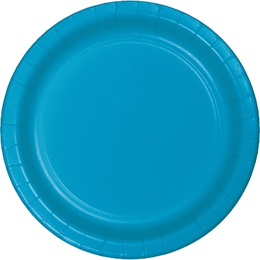 Touch of Color Turquoise Blue Paper Plates, 24 pk (473131B)