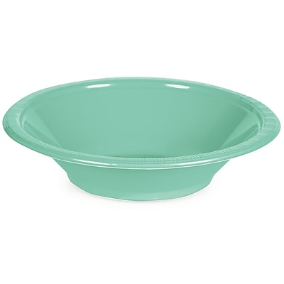 Touch of Color Fresh Mint Green 12 oz Plastic Bowls, 20 pk (318881)