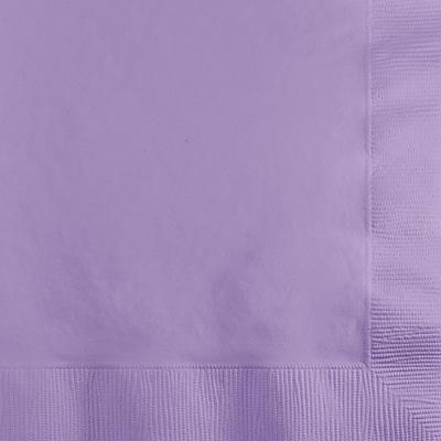 Touch of Color Luscious Lavender Purple Beverage Napkins, 50 pk